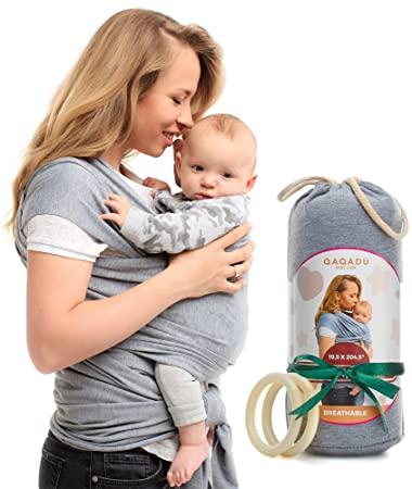 Amazon.com : QAQADU Baby Wrap Carrier - Ring Sling for Newborn and
