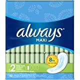 Always Maxi Unscented Pads without Wings, Long/Super, 42 Count (Pack of 3)