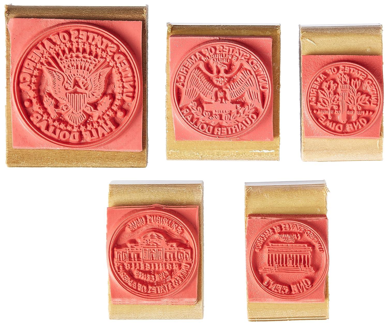 Center Enterprises Inc  Coin Rubber Stamp Set, Tails