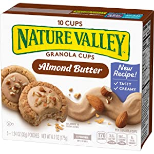 Peak Edition Nature Valley Granola Cups, Almond Butter, 6.2 oz. (5 Pouches)