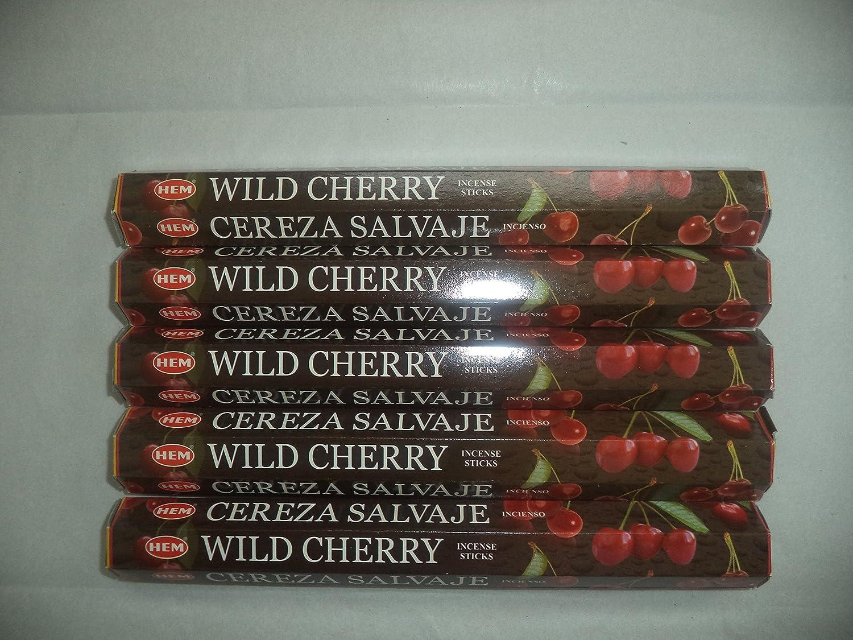 裾ワイルドチェリー100 Incense Sticks (5 x 20スティックパック) B00LUYB0T0