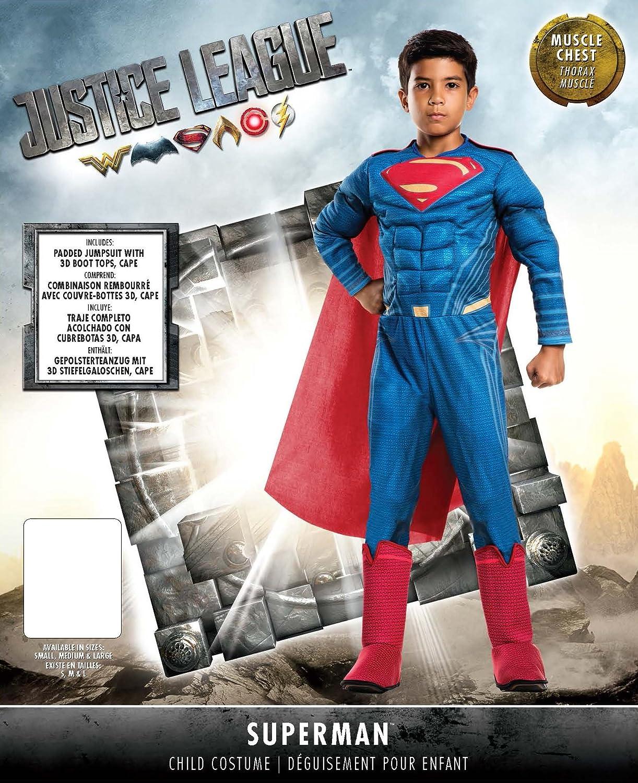 Rubies Costume Boys Justice League Deluxe Superman Costume, Medium, Multicolor