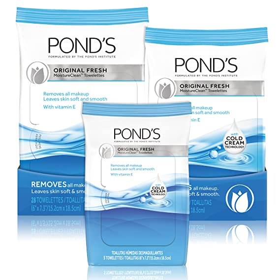 Ponds Moisture Clean Towelettes, Original Fresh 15 ct by Ponds: Amazon.es: Belleza