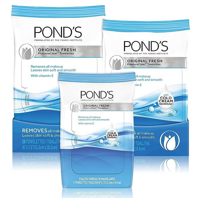 Ponds Moisture Clean Towelettes, Original Fresh 15 ct by Ponds ...