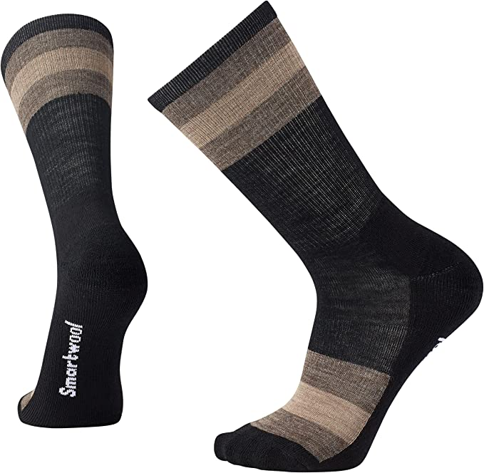 Smartwool Herren Striped Hike Light Crew Socken Deep Navy Blau L