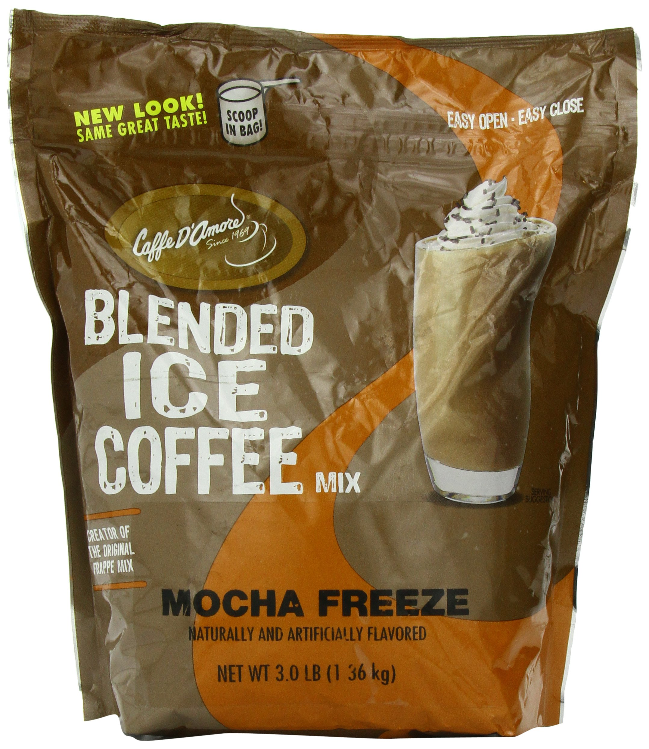Frappe Freeze Ice Coffee Mocha Blended Drink Mix, 3 Pounds