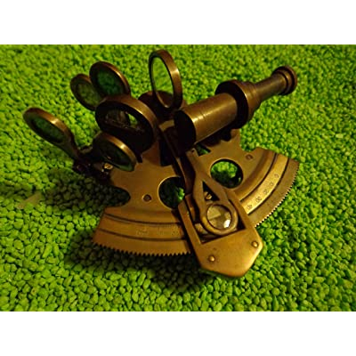 Authentic Models Bronze Pocket Sextant: Toys & Games