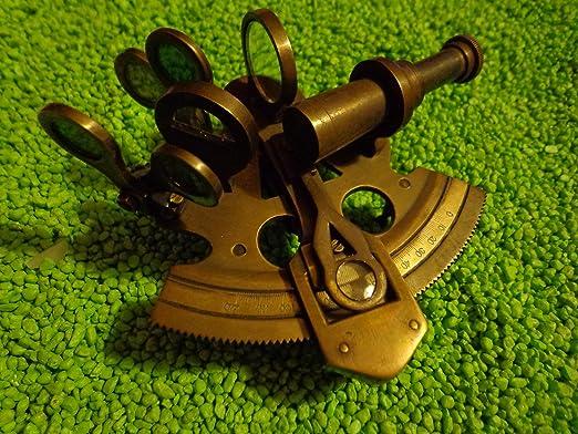 Authentic Models Pocket Sextant With Mini Tripod Vintage Inspired Telescope Bronze Finish Home Kitchen Amazon Com