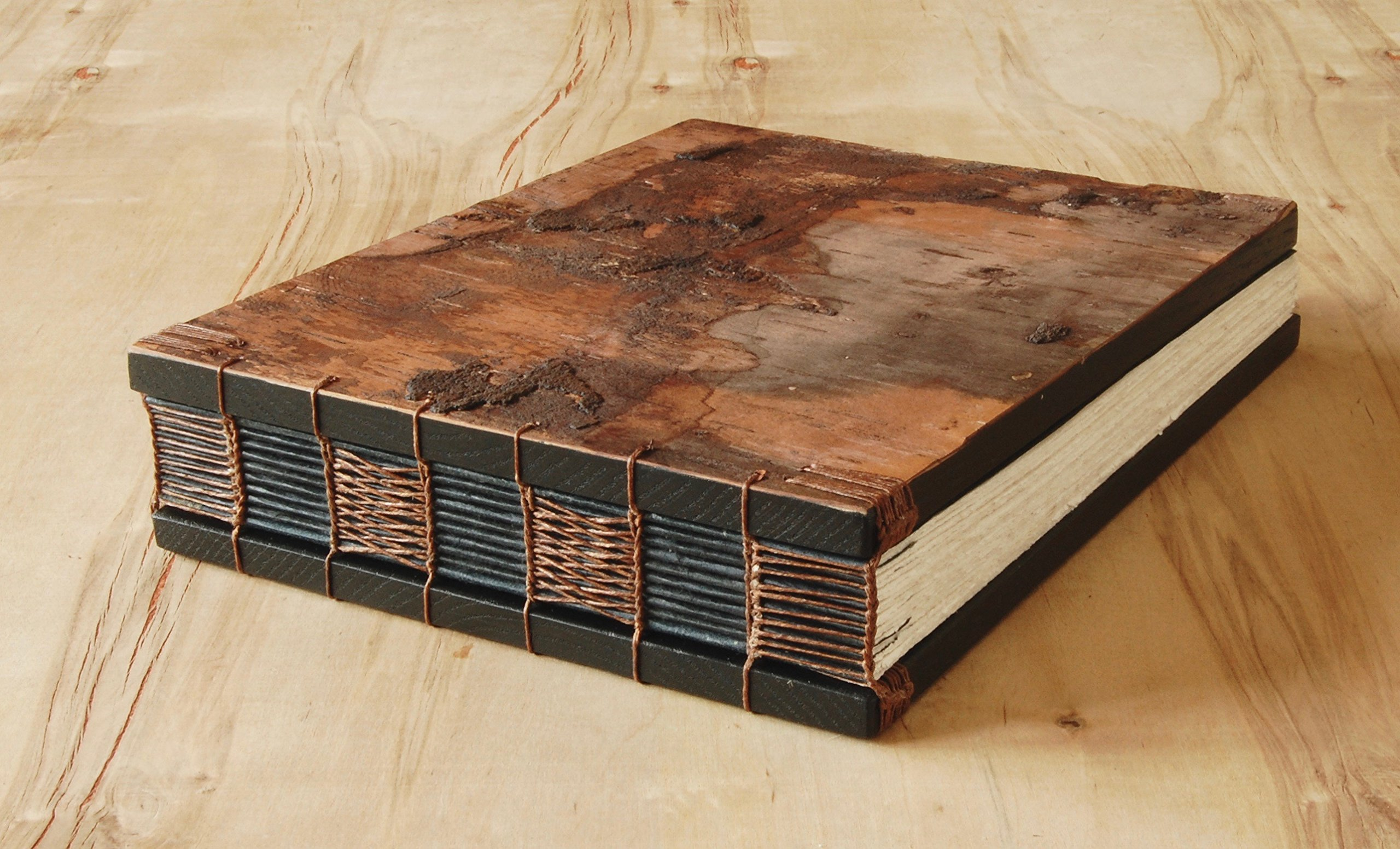 Handmade Tree Bark Wood Wedding or Vacation Home Guest Book