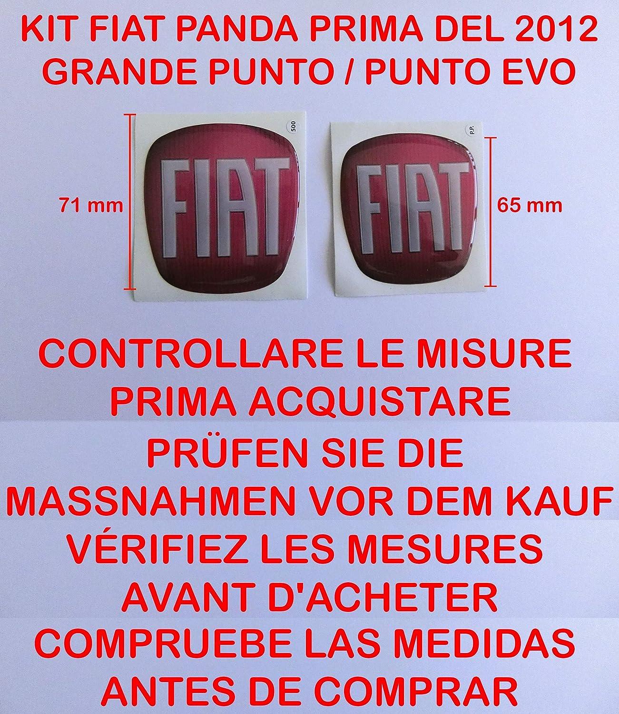 arri/ère en r/ésine effet 3d adh/ésif 3 m capot coffre Rouge Kit sticker stickers Logo Embl/ème Badge avant