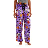 Richard Leeds International Women's Halloween Peanuts Snoopy Charlie Brown Super Minky Fleece Sleep Pants