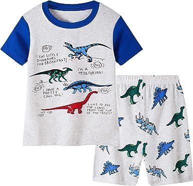 Little/&Big Boys Pajamas Kids 100/% Cotton Pjs Sleepwear Childrens Clothing Set