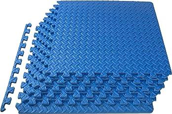 ProSource tapete de ejercicio en forma de rompecabezas con espuma EVA de alta calidad, con piezas entrelazables