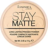 Rimmel London Stay Matte Pressed Powder, Transparent #001, 14 g
