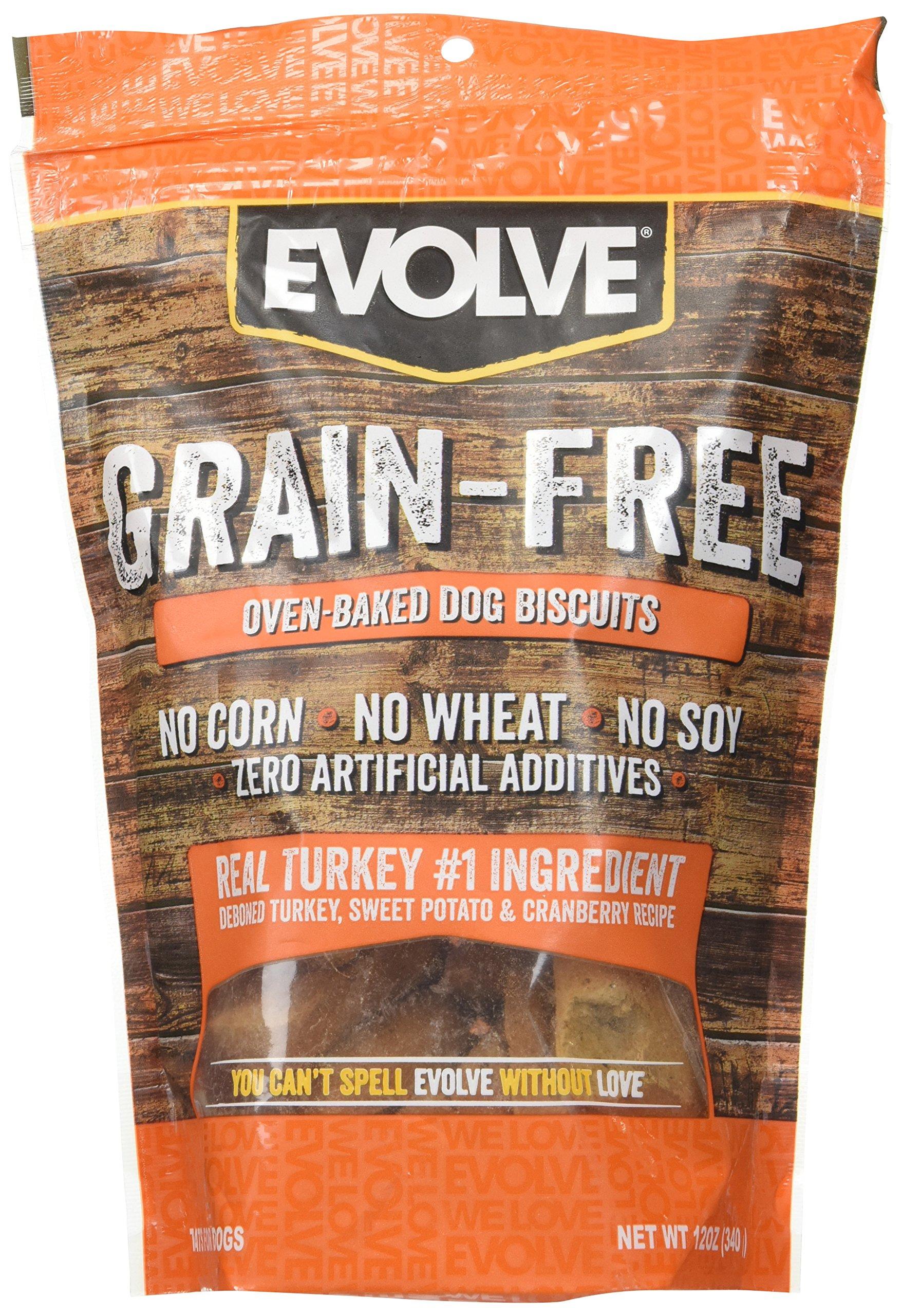 Evolve Oven Baked Grain Free Deboned Turkey Biscuits, 12oz