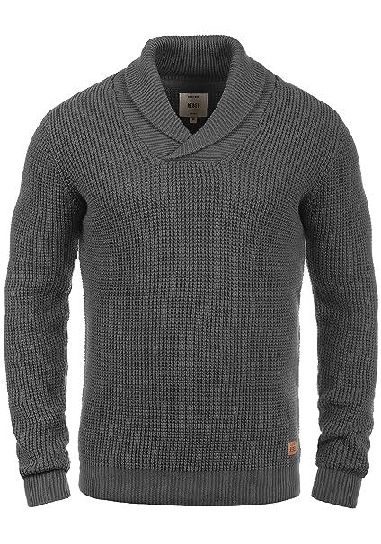 Redefined Rebel Major Jersey De Punto Suéter Sudadera De Punto Grueso para Hombre con Cuello Esmoquin De 100% algodón: Amazon.es: Ropa y accesorios