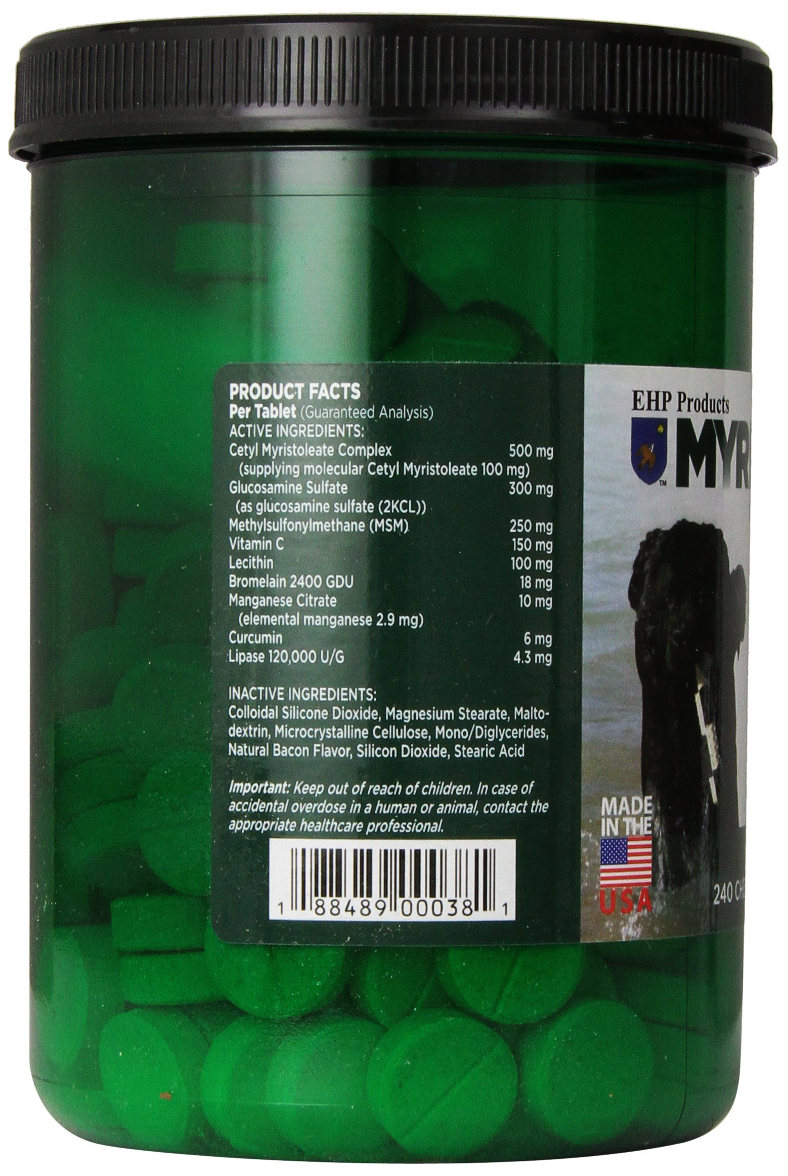 EHP Products Myristin Canine 240 Count Joint Formula by EHP (Image #5)