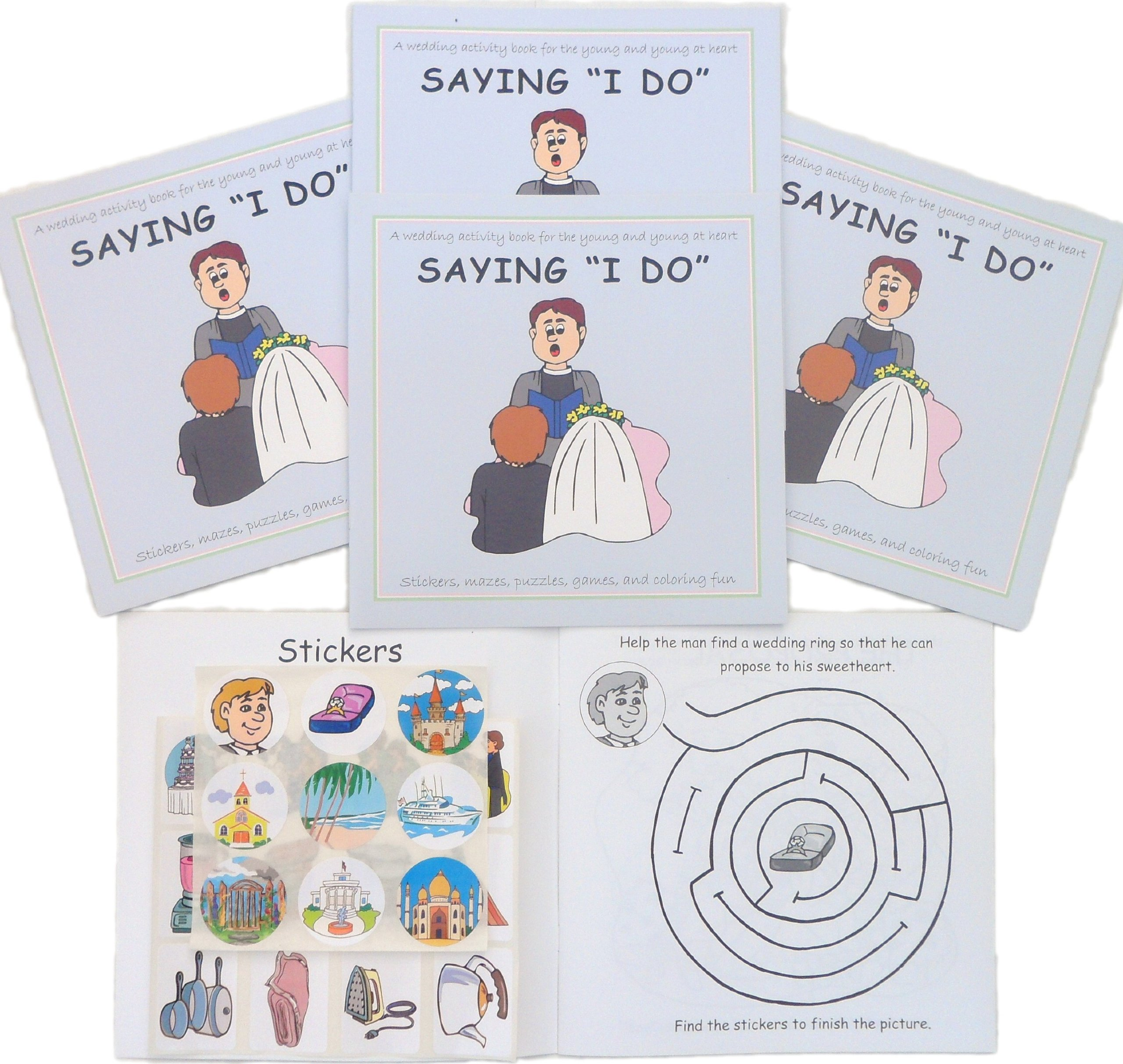 - Saying I Do, A Wedding Sticker Activity Book (Lot Of 5 Books): Kid