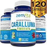 Pure Caralluma Fimbriata Extract 1200 mg - 120 Capsules, Non-GMO & Gluten Free, 60 Days Supply, Maximum Strength Natural Weight Loss Supplement, Appetite Suppressant, Fat Burner