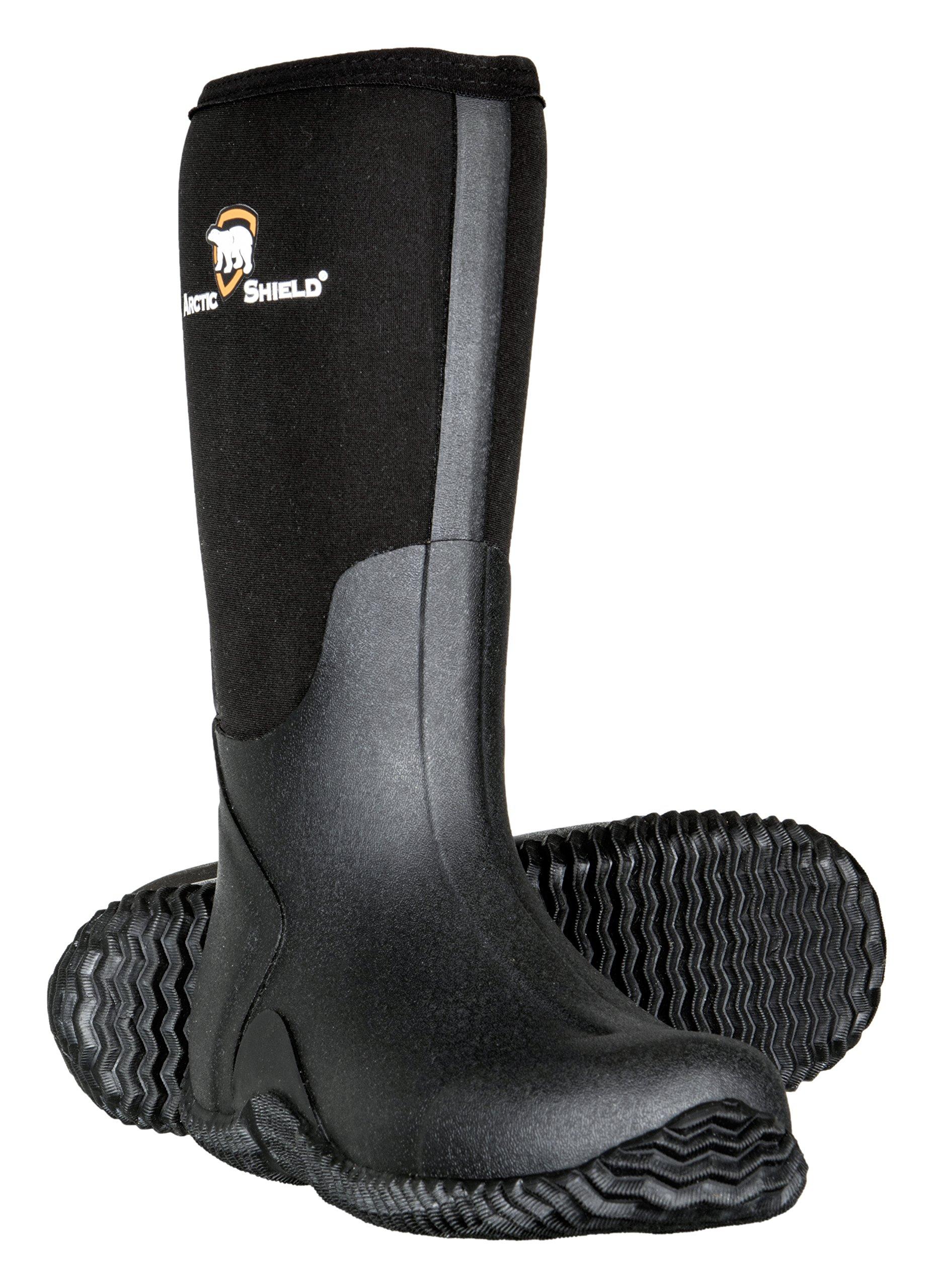 Mens Black Rubber Boots,Black,12 D(M) US by ArcticShield