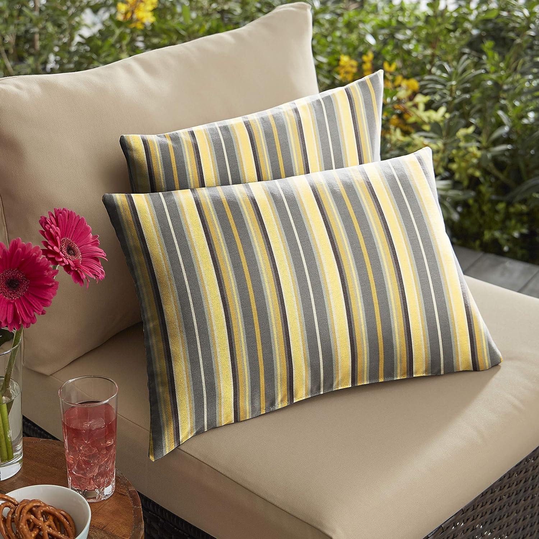Mozaic Company AMZ533701SP Sunbrella Foster Metallic Outdoor Pillow Set