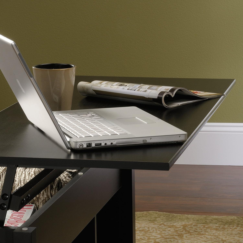 amazon com sauder edge water lift top coffee table estate black
