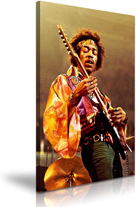 Lienso impreso con imagen de Jimi Hendrix tocando la guitarra, de ...