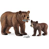 Schleich 42473 Grizzly Bear Mother with cub Playset