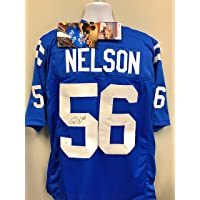 $159 » Quenton Nelson Indianapolis Colts Signed Autograph Custom Jersey Blue JSA Witnessed Certified