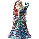 "Jim Shore for Enesco Heartwood Creek Santa with Peacock Figurine, 9.75"""