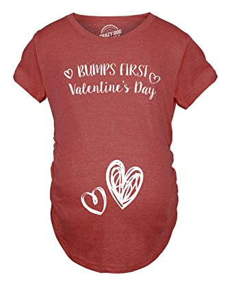 Großartig Bumps First Valentineu0027s Day Maternity Shirt Cute Adorable Baby Bump Tee  S
