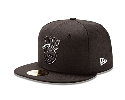 quality design fa978 edc1d NBA New York Knicks NBA Hardwood Classic Black White 59Fifty, Black  White,  7