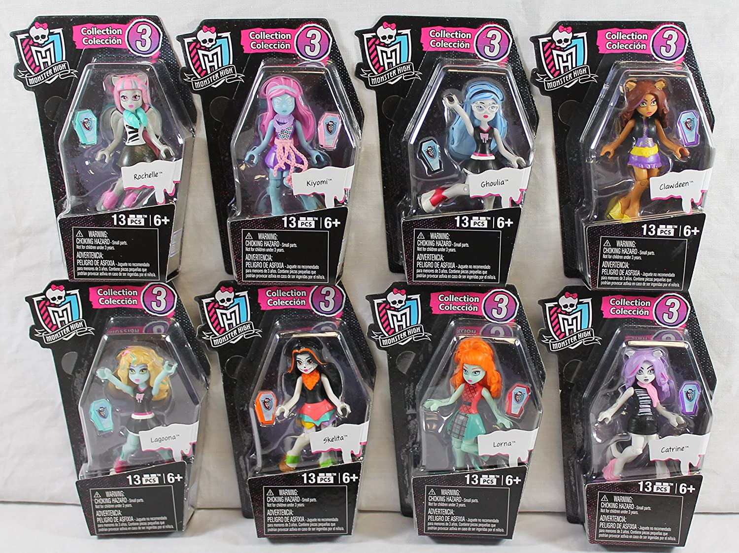 Amazon.com: Toy-Mh Ghouls Skullection Size Ea Monster High Ghouls Skullection Figures: Toys & Games