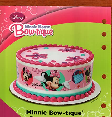 Amazoncom Minnie Mouse Designer Prints Edible Cake Image Kitchen
