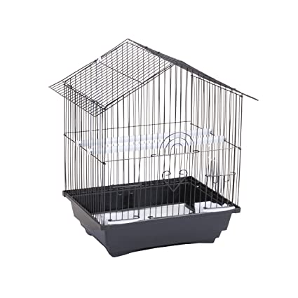 Jaula para pájaros en acero negra + mangeoires columpio perchoir ...