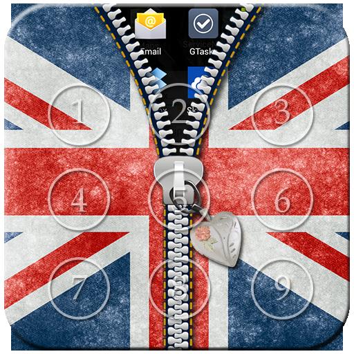 UK Flag Passcode Zipper Lock - Zipper Uk Von