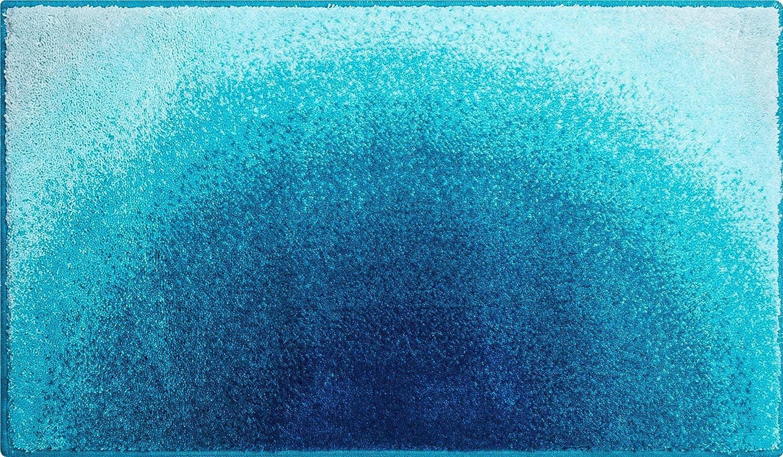 Grund Badteppich 100% Polyacryl, ultra soft, rutschfest, ÖKO-TEX-zertifiziert, 5 Jahre Garantie, SUNSHINE, Badematte 60x100 cm, türkis