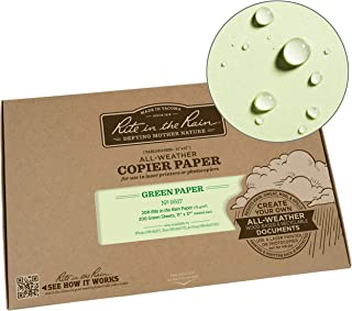 """product image for Rite in the Rain Weatherproof Copier Paper, 11"""" x 17"""", 20# Green, 200 Sheet Pack (No. 9517)"""