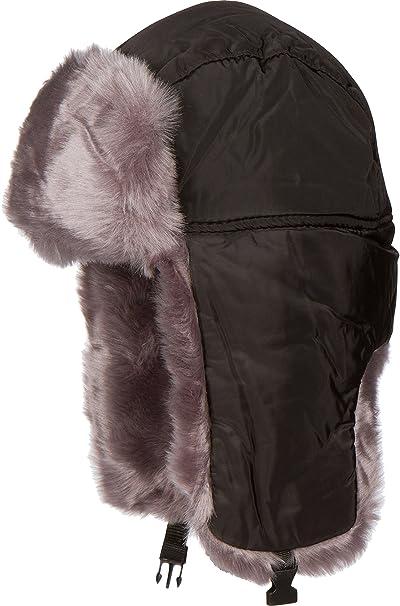 Amazon.com  Sakkas 1769 - Martin Adjustable Casual Aviator Ushanka Trapper  Hat Faux Fur Lined - Black - XL XXL  Clothing 3ad3e67753c