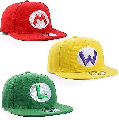 True Heads Gorra de béisbol para Hombre Mario Luigi Wario ...