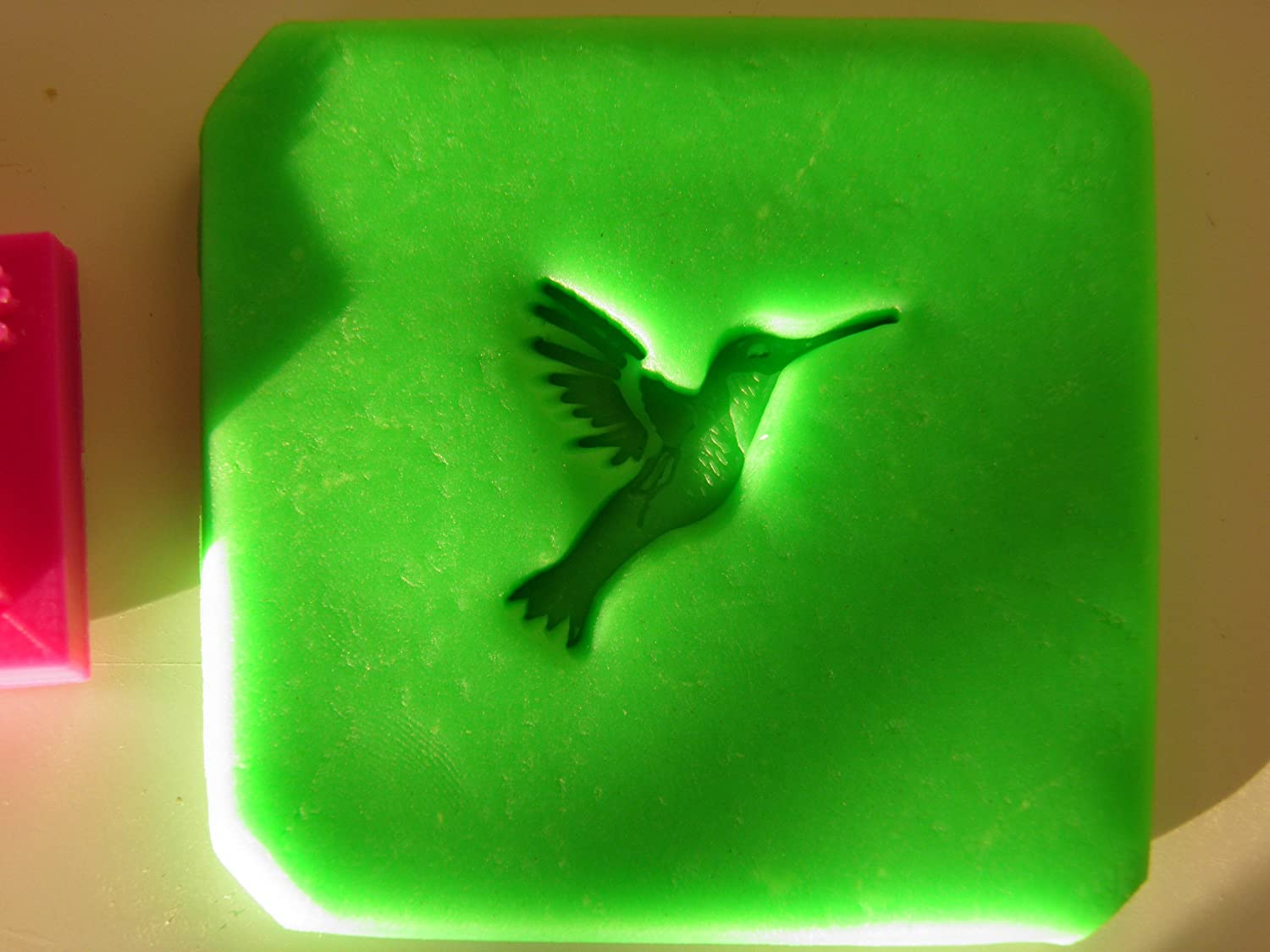 Hummingbird stamp for soap stamping polymer clay and pottery Curtis Merchandise