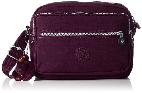 Kipling Deena, Bolso Bandolera para Mujer, Morado (Plum Purple), 12.5x25.5x19 cm (B x H x T): Amazon.es: Zapatos y complementos