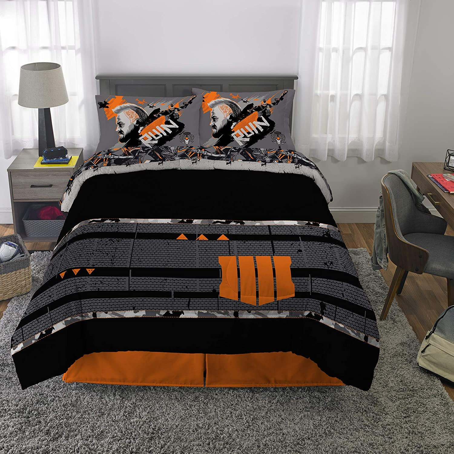 Franco Bedding Super Soft Comforter and Sheet Set, 5 Piece Full Size, Call of Duty Black Ops