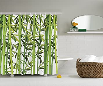 Bamboo Trees Green Nature Art Prints Wildlife High Resolution Bath Home Textile Design Spa Bathroom Decor