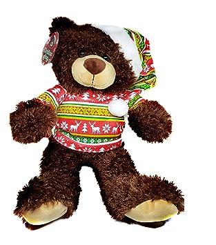 Londres Europa ty-pxb2-b Navidad Oso con Feo Jersey de Peluche, marrón