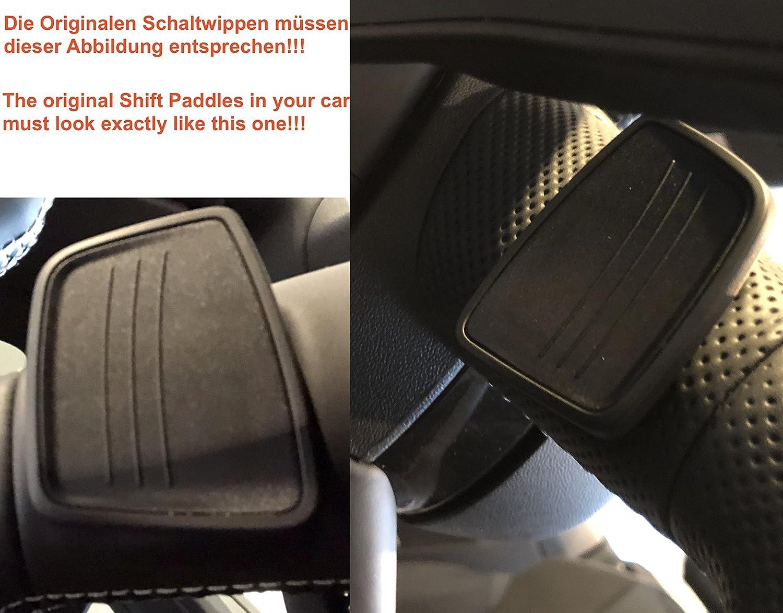 A5 Q7 TTS H-Customs Levas En Volante Dsg levas de cambio Shift Paddle Alu Negro 2015-2017 A4 TT