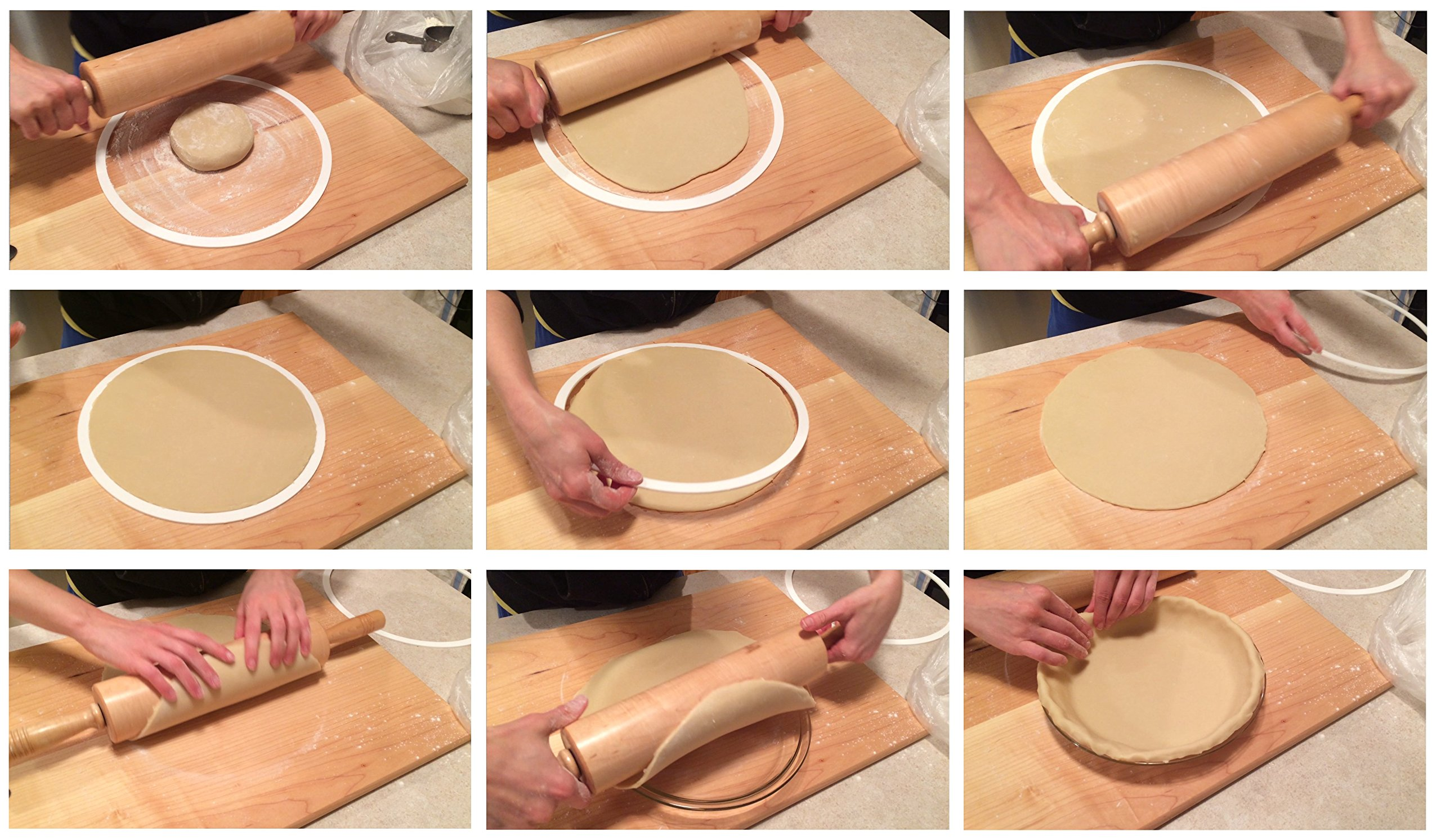 Perfect Pastry Pie Crust Mold for 8'', 9'' and 10'' Pans (Cherry Red)
