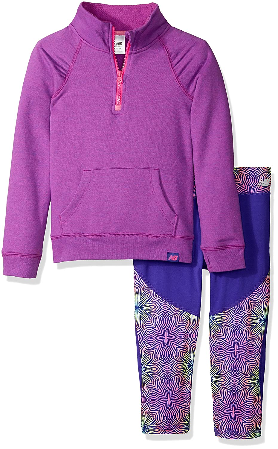 New Balance Girls' 1/4 Zip Pullover and Crop Sets 12354