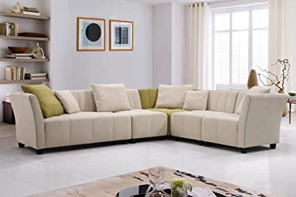 Amazon.com: U.S. Livings Azalea Modern Living Room Sectional ...