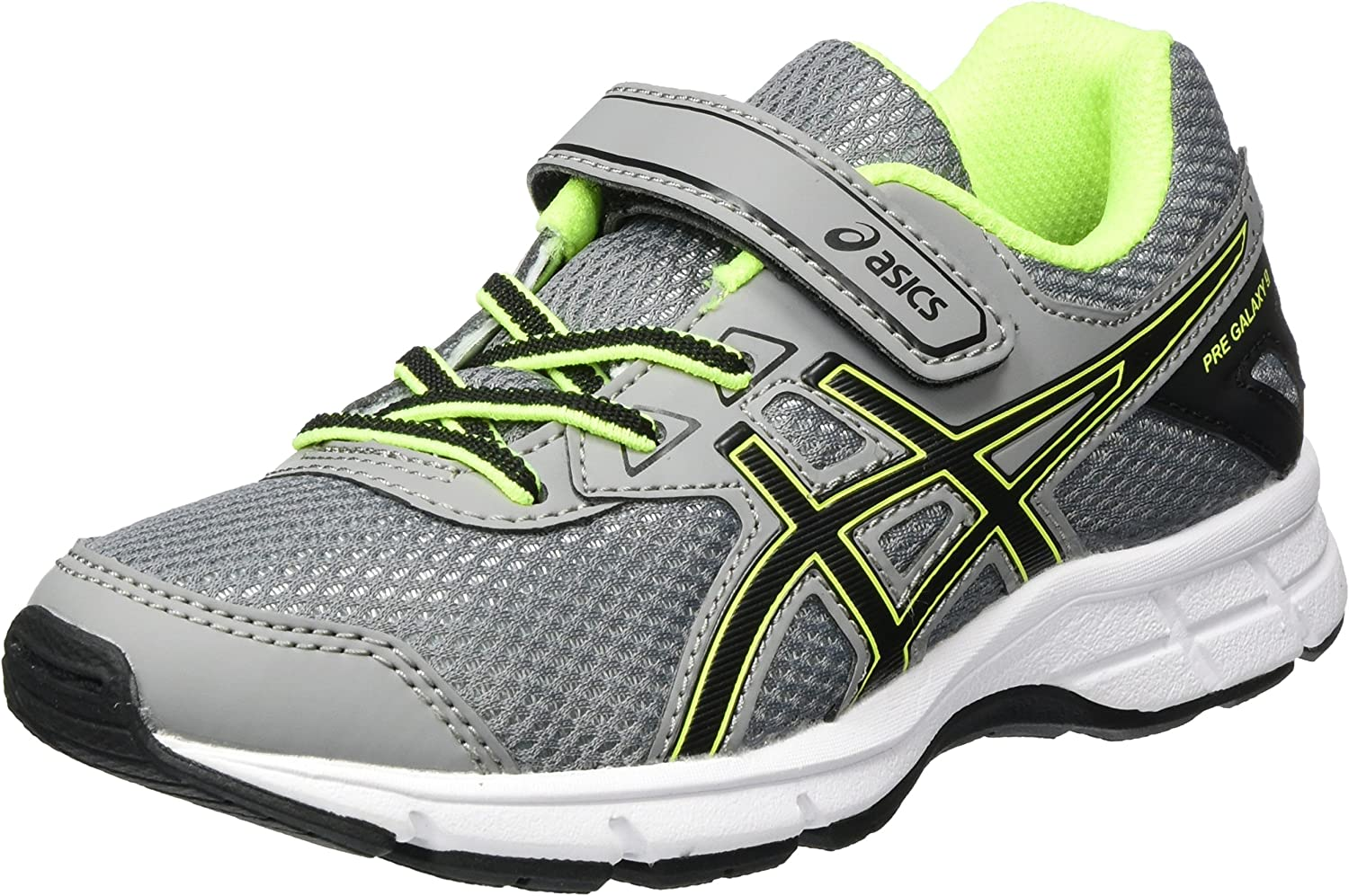 Asics Pre Galaxy 9 PS, Zapatillas de Gimnasia Unisex Niños, Gris (Aluminum/ Black/Safety Yellow), 33 EU: Amazon.es: Zapatos y complementos